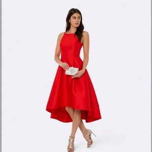 Lexie structured hi-low prom dress
